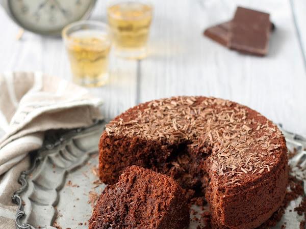 Torta al cioccolato e brandy, dal cuore morbido