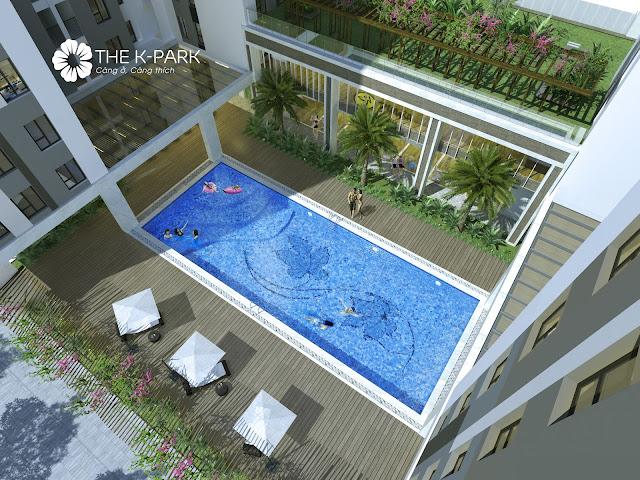 Bể bơi đẳng cấp tại dự án THE K-PARK
