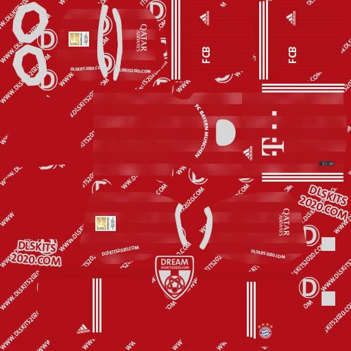 F.C. Bayern Munich Kits 2020-2021 Nike For Dream League Soccer 2020 (Home)