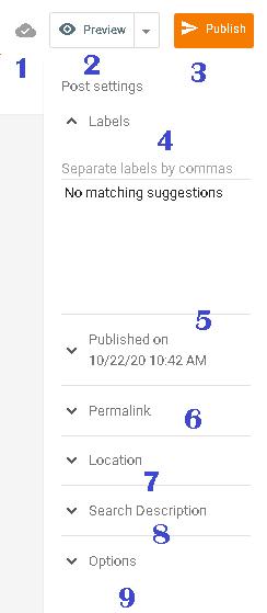 mengenal fungsi samping di editor post
