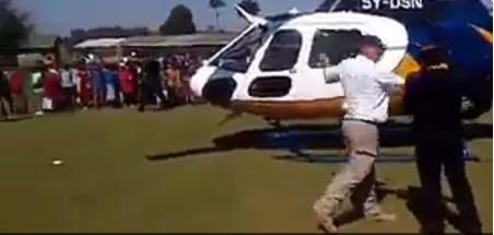 VIDEO: DP Ruto's Pilot Assaulting A Policewoman!