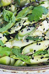 Easy, Elegant, Earthy Asparagus Salad w/ Ginger Sesame Dressing (Raw)