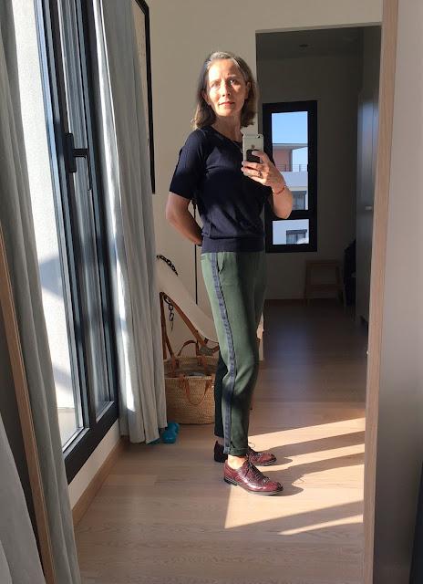 Pantalon vert et marine zara