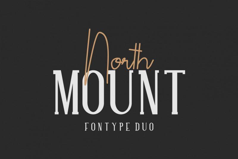 North Mount Font - Free Modern Script Typeface