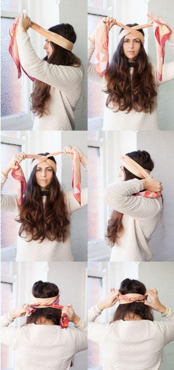 как убрать волосы под платок