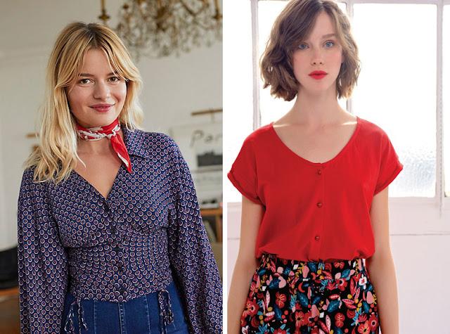 Девушки в женственных блузках