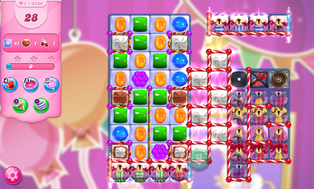 Candy Crush Saga level 6136