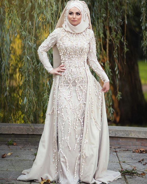 0afd233761446 Robe de Mariage Hijab Blanche - Hijab Fashion and Chic Style
