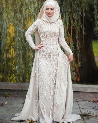 Robe de Mariage Hijab Blanche