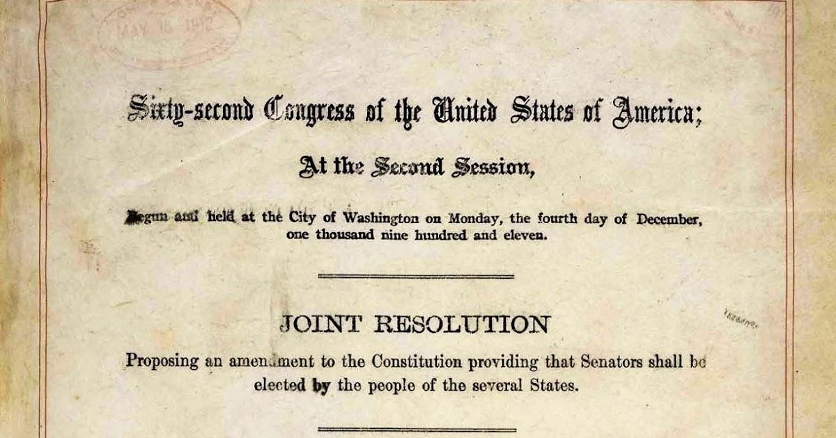 17th Amendment Provides