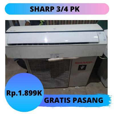 Jual AC Sharp 3/4 PK Gratis Pemasangan Semarang