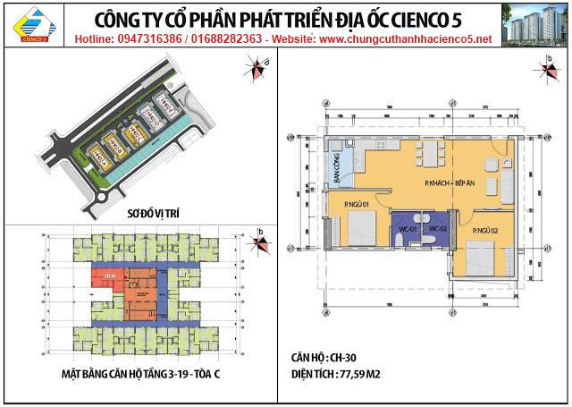 Sơ đồ thiết kế căn 30 chung cư B2.1 HH02C Thanh Hà Cienco 5