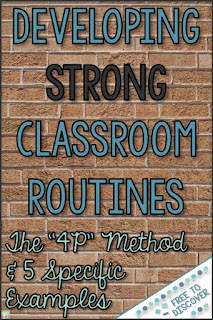 developing strong classroom routines