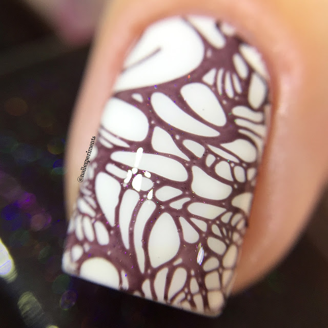 ever after polish mr.burgundy stamping polish swatch