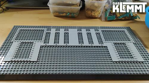Bauschritt 2: das Fundament steht