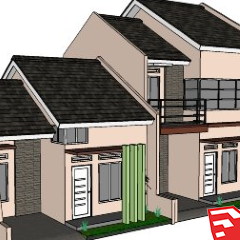 Download SketchUp model rumah