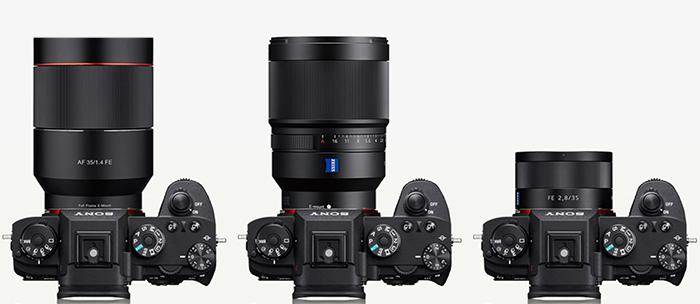 Объективы 35mm на камерах Sony