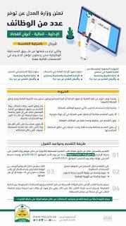 وظائف وزارة  العدل السعودية