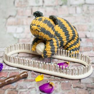 Loom Knit Stuffed Cat Pattern Toy