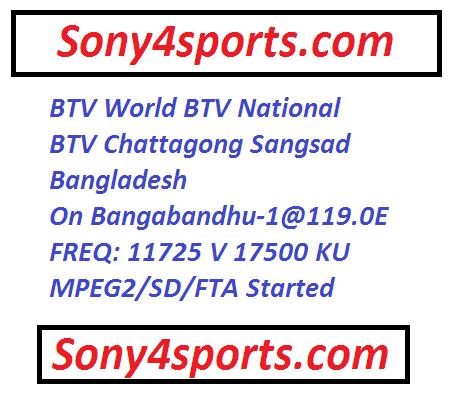 BTV Network New Frequency On Bangabandhu-1@119.0E