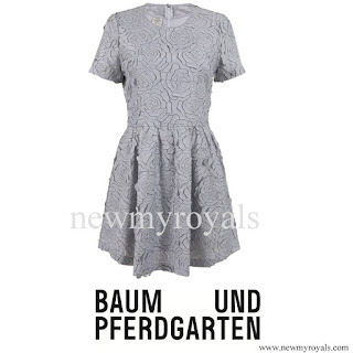 Crown Princess Victoria wore Baum und pferdgarten-ALAINE-3-D flower lace dress
