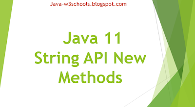 Java 11 - String API New Methods