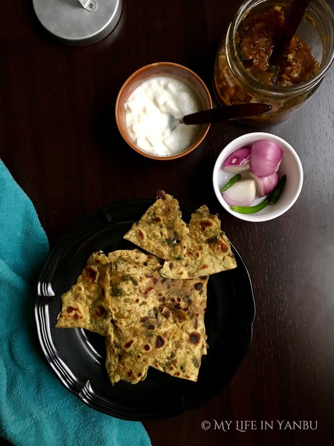 Fenugreek Leaves Flat Bread | Methi Paratha