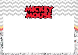 Vintage Mickey Mouse: Free Printable Invitations.