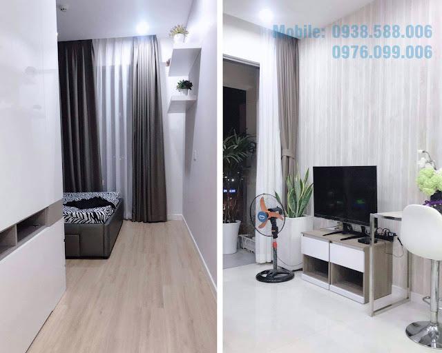 Nội thất phòng khách căn hộ dự án Masteri Millennium 1PN đường Bến Vân Đồn..