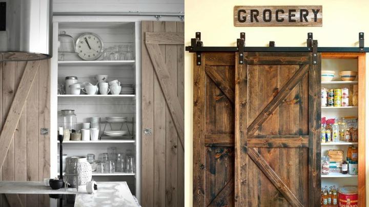 Marzua decorar con puertas granero for Puerta granero madera