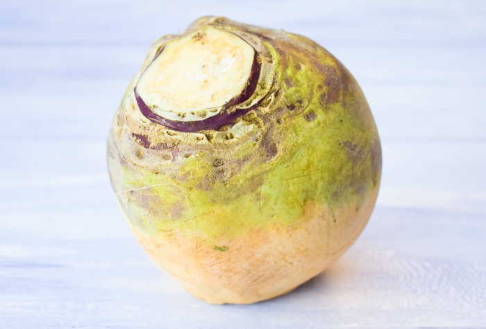Turnip (also known as a neep in Scotland or swede in England)