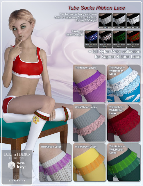 Tube Socks for Genesis 3 Female