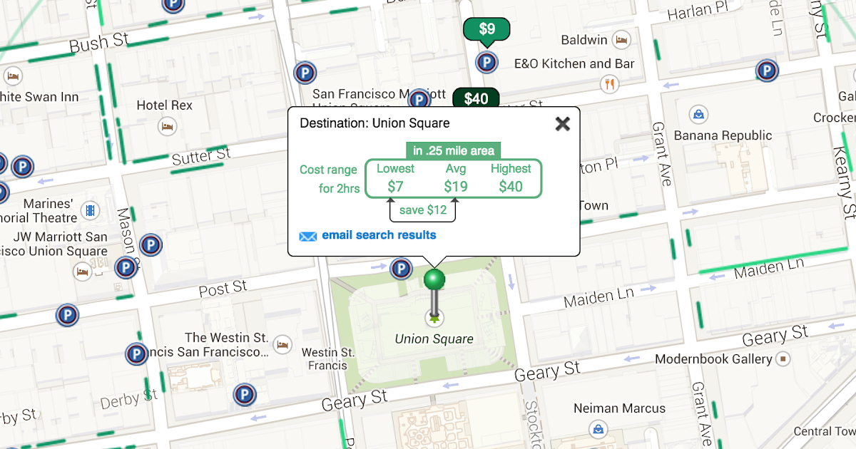 Insider 39 s guide to parking in san francisco cheapest parking near union square san francisco - Parking garage near my location ...