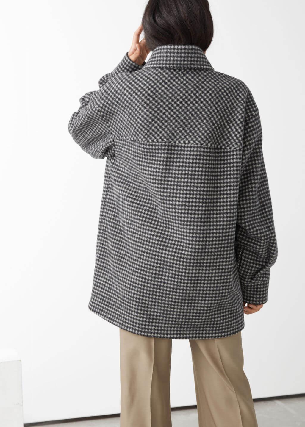 oversized wool blend jacket