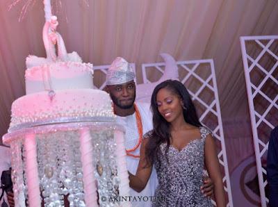 tiwa savage wedding cake