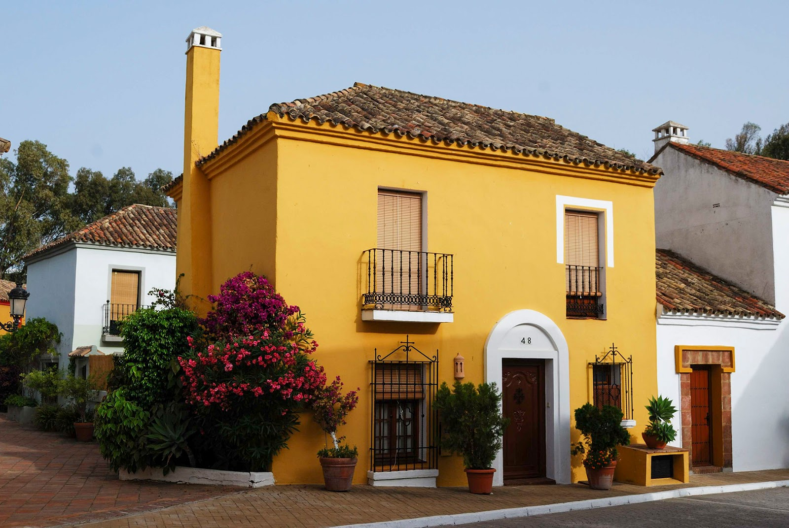 beautiful pretty village small town spain old southern andalusia beach guadalmina marbella malaga
