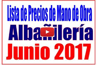 Albañilería Precios de mano de obra