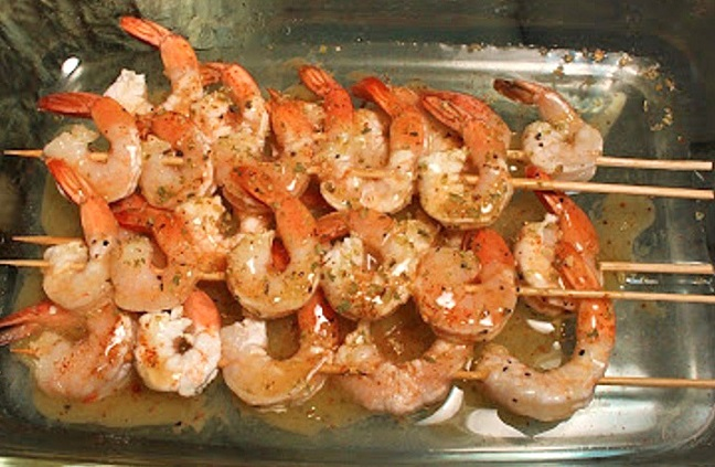 this is tequila shrimp on skewers