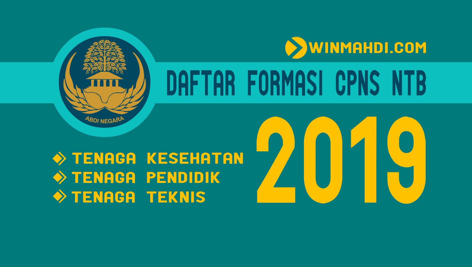 Daftar Formasi CPNS NTB 2019