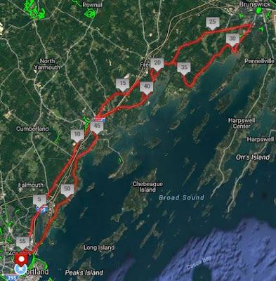 http://www.mapmyride.com/us/portland-me/portland-freeport-brunswick-route-119408001
