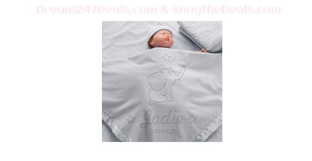 Personalized Baby Blanket Gift Soft Fleece 40% OFF + shipping