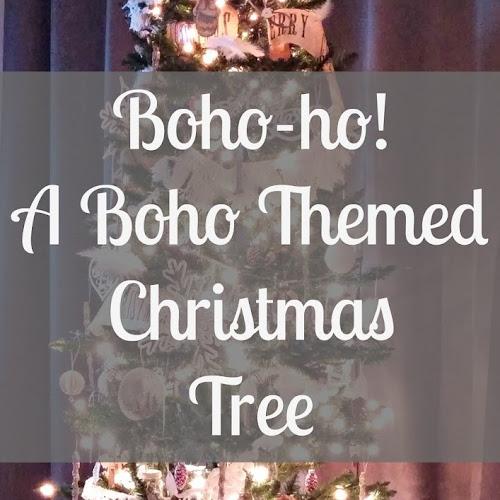 Boho-ho! A Boho Themed Christmas Tree!