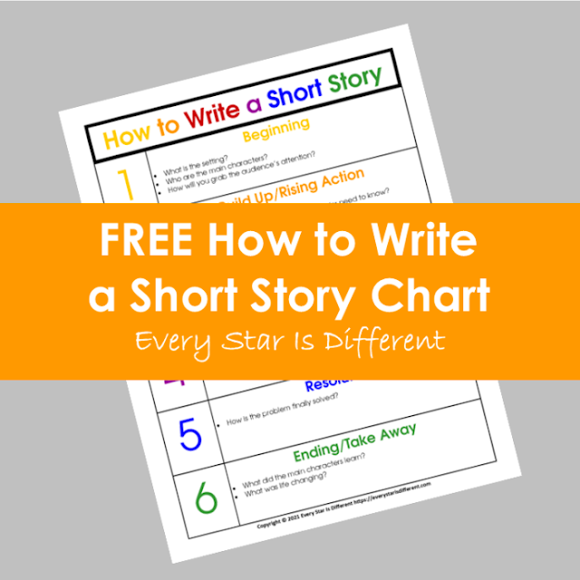 FREE How to Write a Short Story Chart