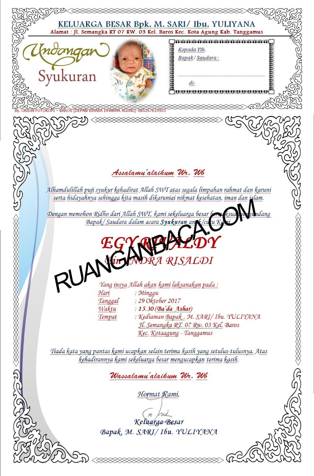 Download Format Undangan Walimatul Tasmiyah Ruanganbacacom