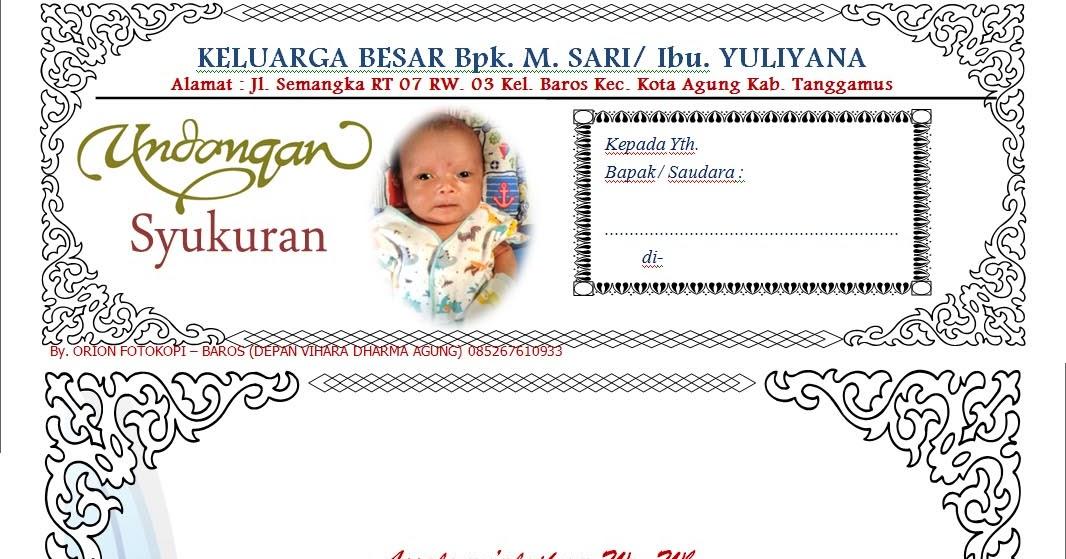 Download Format Undangan Walimatul Tasmiyah Ruanganbaca Com