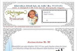 Download Format Undangan Walimatul Tasmiyah