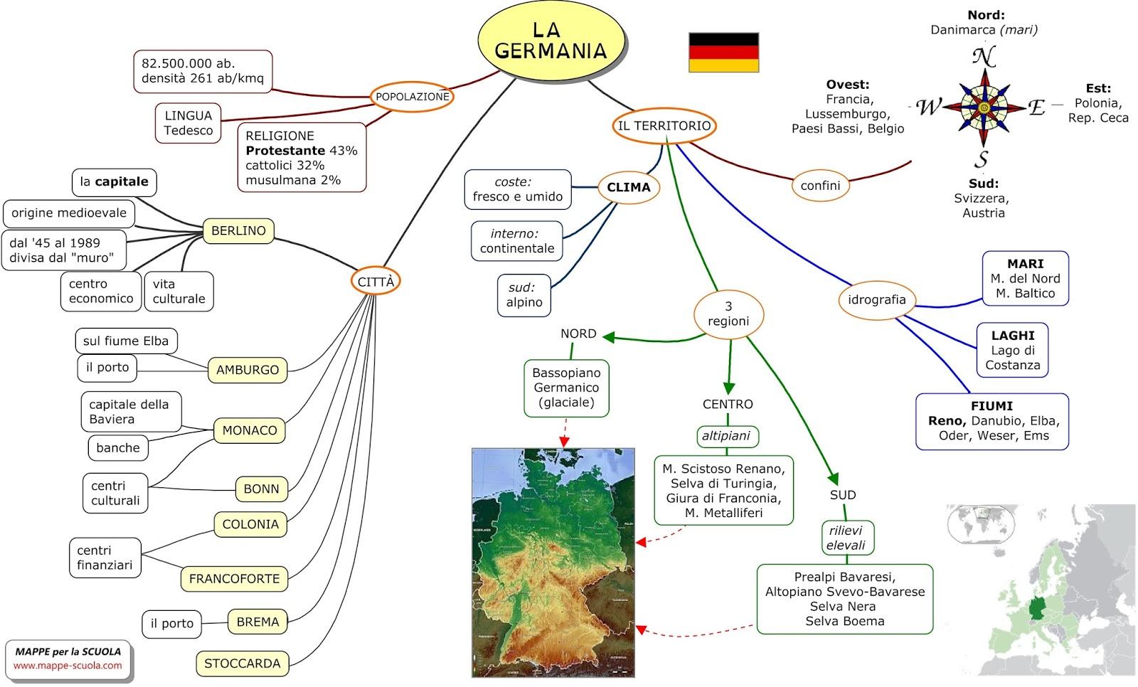 Favoloso MAPPE per la SCUOLA: La GERMANIA PF13