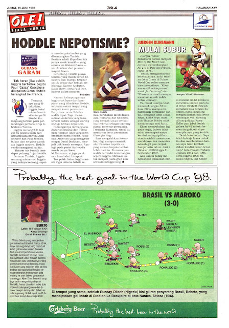 GLEN HODDLE WORDL CUP 1998
