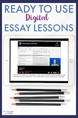 How would it feel to have 2 weeks of lessons done (per unit) and to know that you have set a firm foundation for writing essays in a distance learning/blended learning situation?