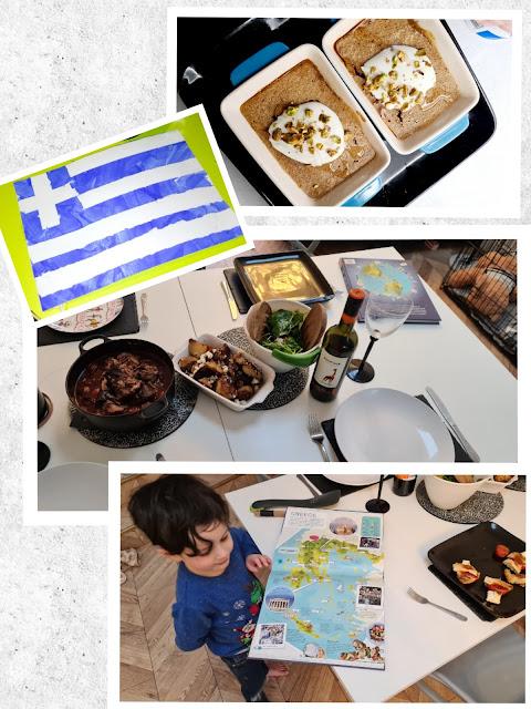 Traditional Greek recipes cooking zouvlaki honey pistachio cake